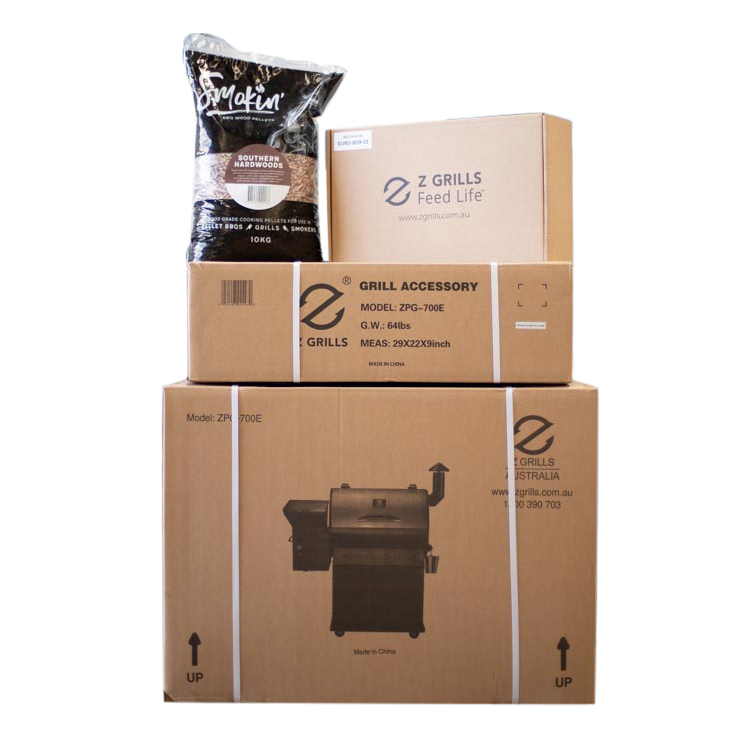 Z Grills 700E Wood Pellet Smoker Box