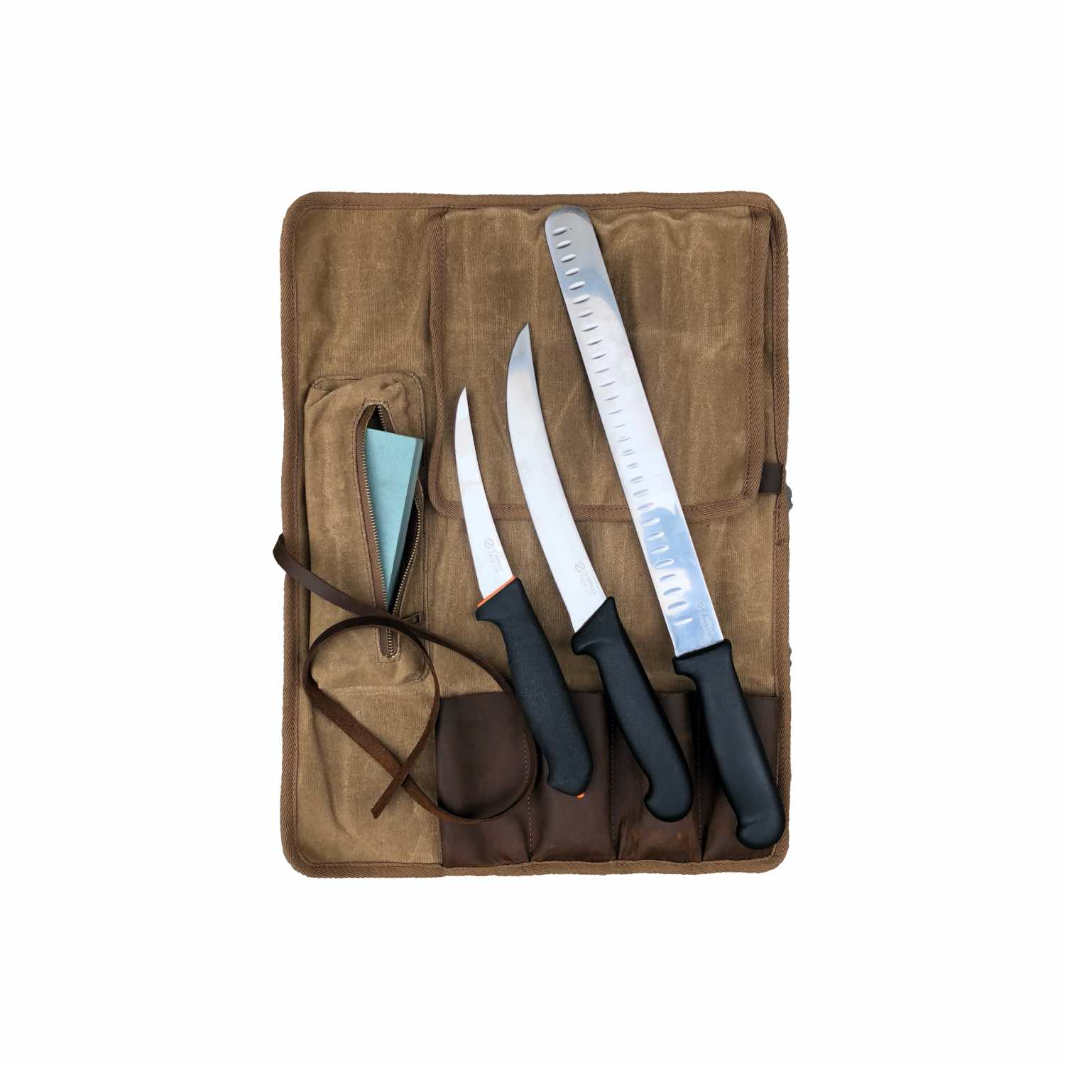 Z Grills BBQ knife waxed canvas pouch bundle