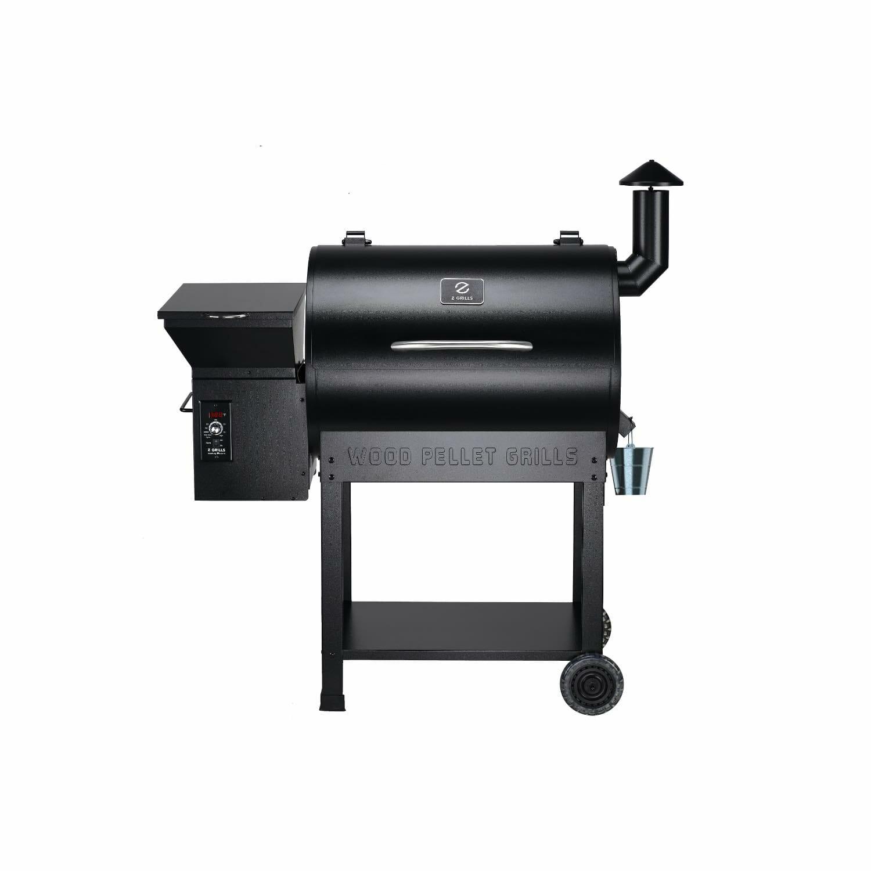Z Grills 7002B wood pellet smoker grill rack front view