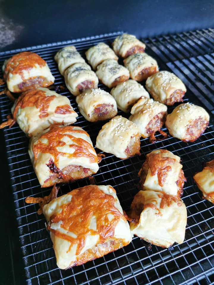 Z Grills Pellet Smoker Beef, Cheese and Bacon sausage rolls - 3