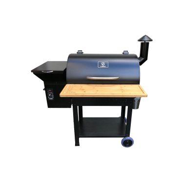Z Grills 700 Pellet Smoker Folding Bench Open