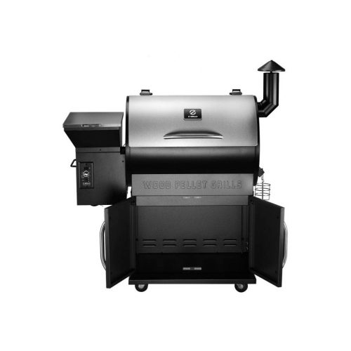 Front view of the Z Grills 700E-XL Pellet Smoker with the doors open