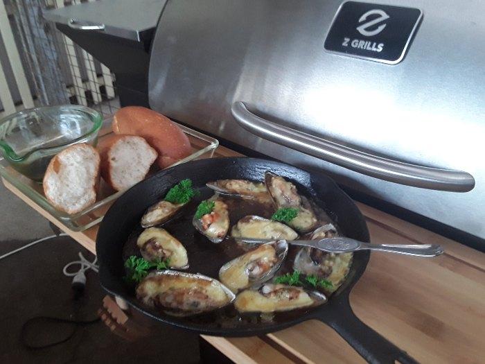 Green-Lipped Mussel Entree pellet smoker 2 - Z Grills Australia