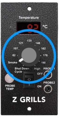 Set Z Grills controller to SMOKE setting